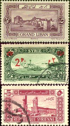 postzegels uit Syrië