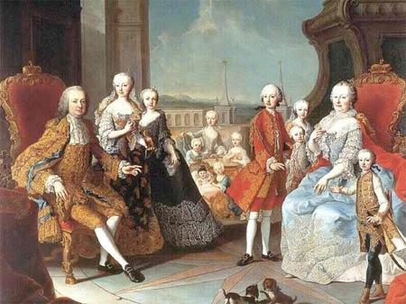 Maria Theresia en haar kinderen