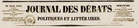 journal des débats 1842