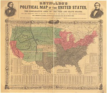 US map 1856