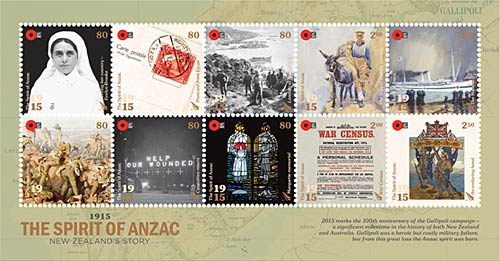 anzac stamps