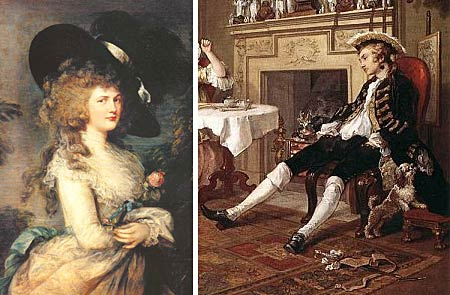 Gainsborough  en Hogarth