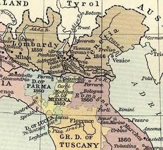 Italie kaart