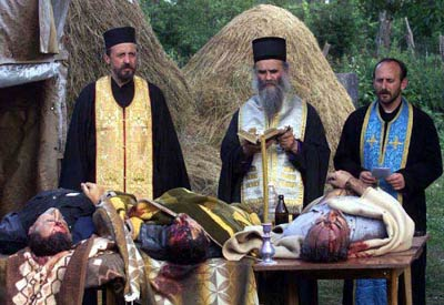 begrafenisdienst voor vermoorde Serven