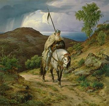 De middeleeuwen 1800 1900 woest vredig - Geloof peinture ...