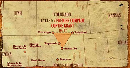 kaart Colorado - New Mexico